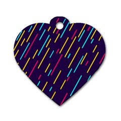 Background Lines Forms Dog Tag Heart (One Side)