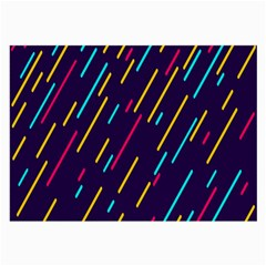 Background Lines Forms Large Glasses Cloth (2-Side)