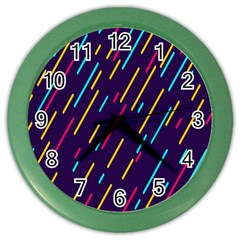 Background Lines Forms Color Wall Clocks