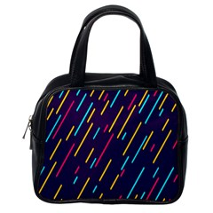 Background Lines Forms Classic Handbags (One Side)