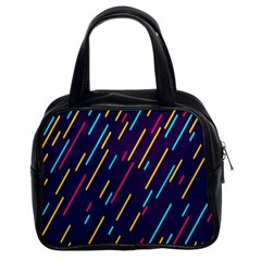Background Lines Forms Classic Handbags (2 Sides)