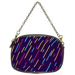 Background Lines Forms Chain Purses (One Side)