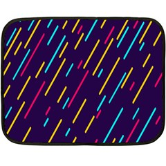 Background Lines Forms Double Sided Fleece Blanket (Mini)