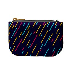 Background Lines Forms Mini Coin Purses