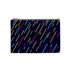Background Lines Forms Cosmetic Bag (Medium)