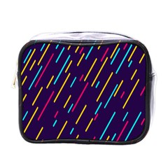 Background Lines Forms Mini Toiletries Bags
