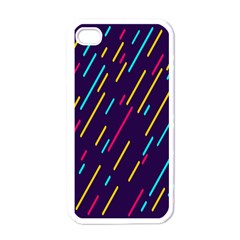 Background Lines Forms Apple iPhone 4 Case (White)
