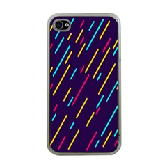 Background Lines Forms Apple iPhone 4 Case (Clear)