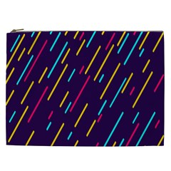 Background Lines Forms Cosmetic Bag (XXL)