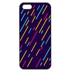 Background Lines Forms Apple iPhone 5 Seamless Case (Black)