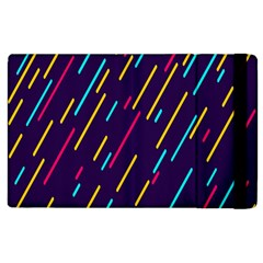 Background Lines Forms Apple iPad 3/4 Flip Case
