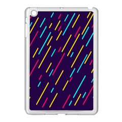 Background Lines Forms Apple iPad Mini Case (White)