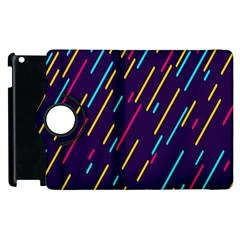 Background Lines Forms Apple iPad 3/4 Flip 360 Case