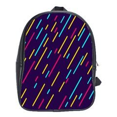 Background Lines Forms School Bags (XL)