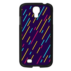 Background Lines Forms Samsung Galaxy S4 I9500/ I9505 Case (Black)