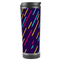 Background Lines Forms Travel Tumbler