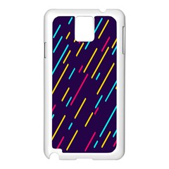 Background Lines Forms Samsung Galaxy Note 3 N9005 Case (White)