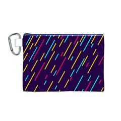 Background Lines Forms Canvas Cosmetic Bag (M)