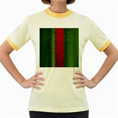 Background Christmas Women s Fitted Ringer T-Shirts