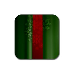 Background Christmas Rubber Square Coaster (4 pack)