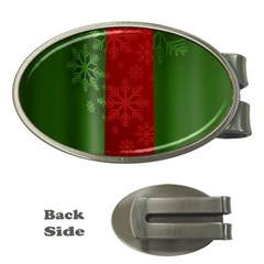 Background Christmas Money Clips (Oval)