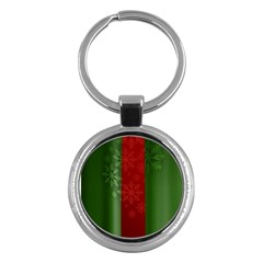 Background Christmas Key Chains (Round)