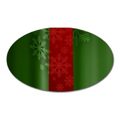 Background Christmas Oval Magnet