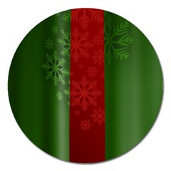 Background Christmas Magnet 5  (Round)