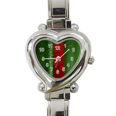 Background Christmas Heart Italian Charm Watch