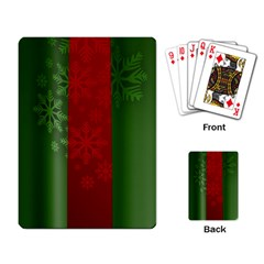 Background Christmas Playing Card