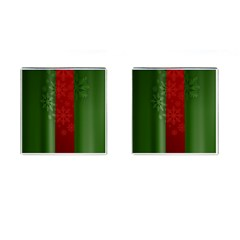 Background Christmas Cufflinks (Square)