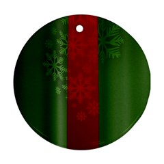 Background Christmas Round Ornament (Two Sides)
