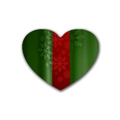 Background Christmas Heart Coaster (4 pack)