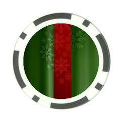 Background Christmas Poker Chip Card Guard (10 pack)