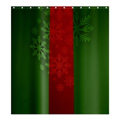 Background Christmas Shower Curtain 66  x 72  (Large)