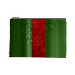 Background Christmas Cosmetic Bag (Large)