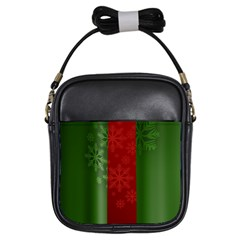 Background Christmas Girls Sling Bags