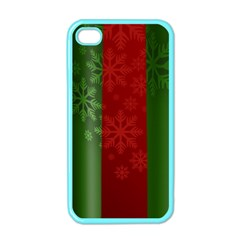 Background Christmas Apple iPhone 4 Case (Color)