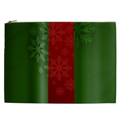 Background Christmas Cosmetic Bag (XXL)