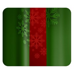 Background Christmas Double Sided Flano Blanket (Small)