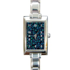 Background Abstract Textile Design Rectangle Italian Charm Watch