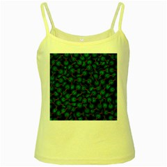 Background Abstract Textile Design Yellow Spaghetti Tank