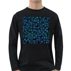 Background Abstract Textile Design Long Sleeve Dark T-Shirts