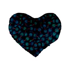 Background Abstract Textile Design Standard 16  Premium Flano Heart Shape Cushions