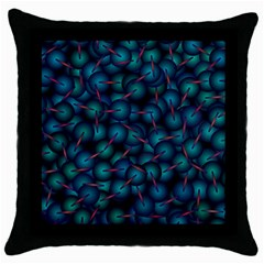 Background Abstract Textile Design Throw Pillow Case (Black)