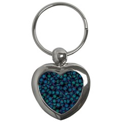 Background Abstract Textile Design Key Chains (Heart)