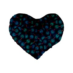 Background Abstract Textile Design Standard 16  Premium Heart Shape Cushions