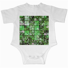 Background Of Green Squares Infant Creepers