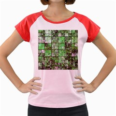 Background Of Green Squares Women s Cap Sleeve T-Shirt
