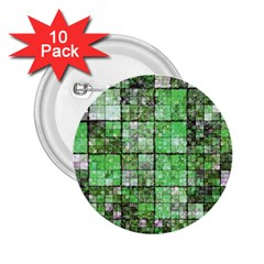 Background Of Green Squares 2.25  Buttons (10 pack)
